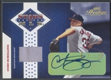 2005 Playoff Prestige #6 Curt Schilling Stars of MLB Signature Material Jersey Auto #04/10