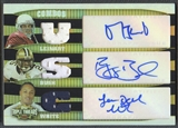2006 Topps Triple Threads #1 Matt Leinart Reggie Bush LenDale White Rookie Jersey Auto #23/27