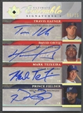 2006 Ultimate Collection #19 Travis Hafner David Ortiz Mark Teixeira Prince Fielder Quad Auto #06/25
