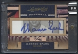 2011 Donruss Limited Cuts 3 #336 Warren Spahn Auto #12/48