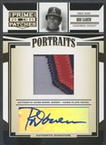 2005 Prime Patches #33 Rod Carew Portraits Name Plate Patch Auto #5/5