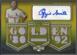 2010 Topps Triple Threads #AR88 Ozzie Smith Relics Gold Jersey Auto #1/9