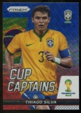 2014 Panini Prizm World Cup Cup Captains Prizms Blue and Red Wave #28 Thiago Silva