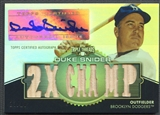 2012 Topps Triple Threads #TTAR125 Duke Snider Relic Bat Auto #13/18