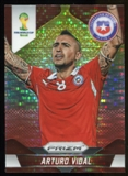 2014 Panini Prizm World Cup Prizms Yellow and Red Pulsar #43 Arturo Vidal