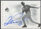 2001 SP Authentic #AR Alex Rodriguez Chirography Auto SP