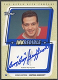 1999/00 Upper Deck Retro #BG Bernie Geoffrion Inkredible Auto