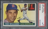 1955 Topps Baseball #2 Ted Williams PSA 7 (NM) *6468