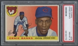 1955 Topps Baseball #28 Ernie Banks PSA 8 (NM-MT) *0770