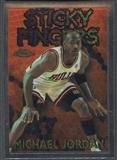 1996/97 Topps Chrome #SB18 Michael Jordan Season's Best Sticky Fingers