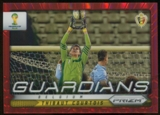 2014 Panini Prizm World Cup Guardians Prizms Red #3 Thibaut Courtois /149