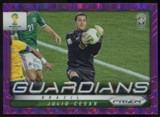 2014 Panini Prizm World Cup Guardians Prizms Purple #5 Julio Cesar /99