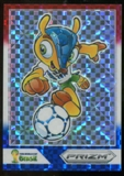 2014 Panini Prizm World Cup Fuleco Prizms Red White and Blue #1 Fuleco