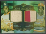 2006 Upper Deck Epic #GB Bob Gibson & Lou Brock Epic Pairings Jersey #49/99
