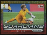 2014 Panini Prizm World Cup Guardians Prizms Yellow and Red Pulsar #10 Joe Hart