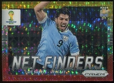 2014 Panini Prizm World Cup Net Finders Prizms Yellow and Red Pulsar #24 Luis Suarez