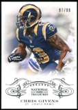 2013 Panini National Treasures #91 Chris Givens 97/99