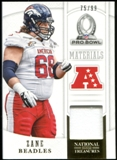 2013 Panini National Treasures Pro Bowl Materials #2 Zane Beadles 75/99