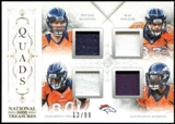 2013 Panini National Treasures Team Quads Material #12 Demaryius Thomas Moreno Peyton Manning Wes Welker 12/99