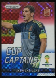 2014 Panini Prizm World Cup Cup Captains Prizms Red White and Blue #14 Iker Casillas