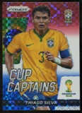2014 Panini Prizm World Cup Cup Captains Prizms Red White and Blue #28 Thiago Silva
