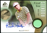 2014 Upper Deck SP Game Used #38 Russell Henley RC Shirt Autograph 159/399