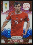 2014 Panini Prizm World Cup Prizms Red White and Blue #183 Blerim Dzemaili