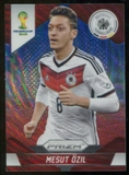 2014 Panini Prizm World Cup Prizms Blue and Red Wave #88 Mesut Ozil