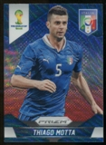 2014 Panini Prizm World Cup Prizms Blue and Red Wave #126 Thiago Motta