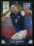 2014 Panini Prizm World Cup Prizms Yellow and Red Pulsar #69 Clint Dempsey