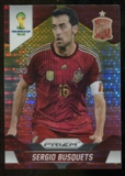 2014 Panini Prizm World Cup Prizms Yellow and Red Pulsar #174 Sergio Busquets