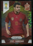 2014 Panini Prizm World Cup Prizms Yellow and Red Pulsar #176 Cesc Fabregas