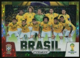 2014  Panini Prizm World Cup Team Photos Prizms Yellow and Red Pulsar #6 Brasil