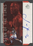 1998/99 SP Authentic #SH Shawn Kemp Sign of the Times Silver Auto