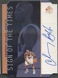 1998/99 SP Authentic #CB Chauncey Billups Sign of the Times Bronze Auto