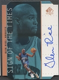 1998/99 SP Authentic #GR Glen Rice Sign of the Times Bronze Auto