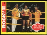 2013 Topps 75th Anniversary Buyback Autographs #2 Sylvester Stallone Rocky II 1/1 #48