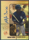 2000 SPx #94 Alfonso Soriano Rookie Auto #0642/1500