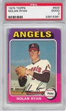 1975 Topps Baseball #500 Nolan Ryan PSA 2 (GOOD) *5381