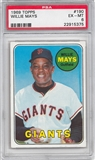 1969 Topps Baseball #190 Willie Mays PSA 6 (EX-MT) *5375