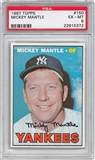 1967 Topps Baseball #150 Mickey Mantle PSA 6 (EX-MT) *5372