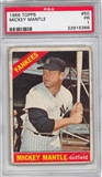1966 Topps Baseball #50 Mickey Mantle PSA 1 (PR) *5366