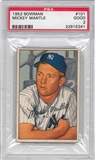 1952 Bowman Baseball #101 Mickey Mantle PSA 2 (GD) *5341