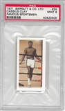 "Cassius Clay ""Muhammed Ali"" Barratt & Co. LTD Famous Sportsmen PSA 9 (Mint) *0405"