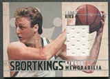 2007 Sportkings #SM37 Larry Bird Single Memorabilia Silver Jersey