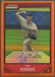 2007 Bowman Chrome #122 Greg Maddux Orange Refractor #08/25