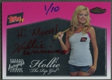 2008 Finest Topps #RGH Hollie The Rip Girl Topps TV Red Ink Auto #01/10
