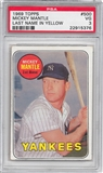 1969 Topps Baseball #500 Mickey Mantle PSA 3 (VG) *5376
