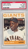 1964 Topps Baseball #150 Willie Mays PSA 6 (MC) (EX-MT) *5361