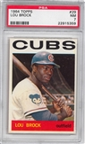 1964 Topps Baseball #29 Lou Brock PSA 7 (NM) *5359